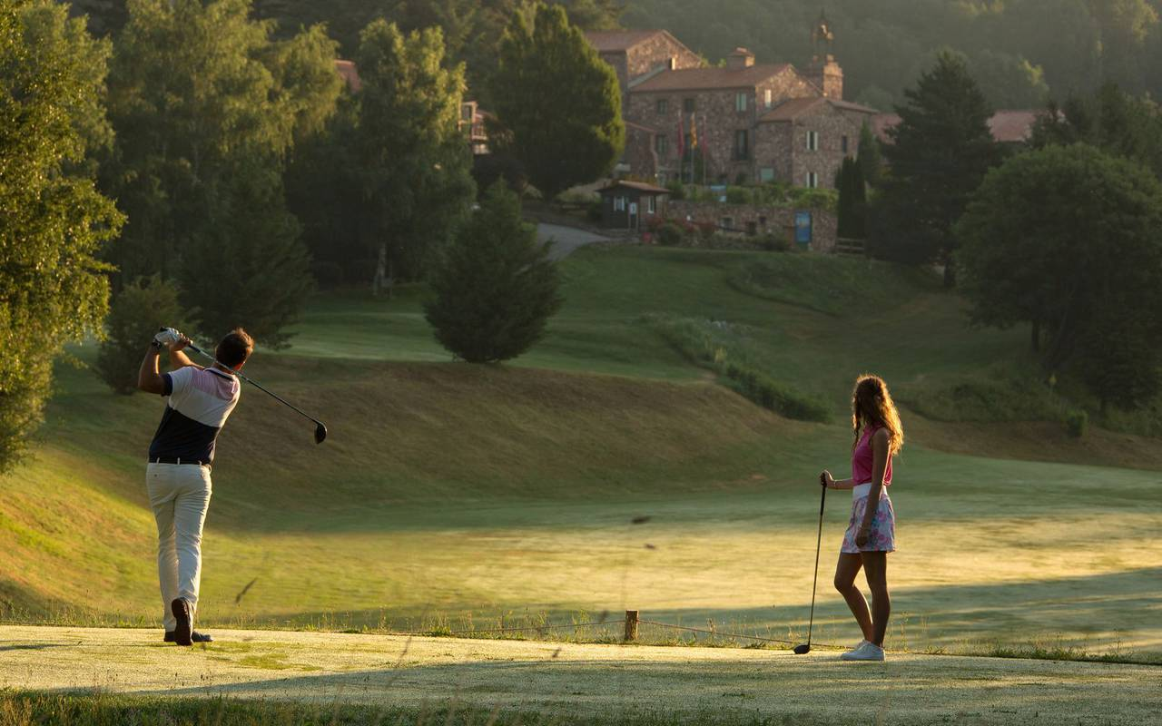 Couple at golf hotel in ceret 66400