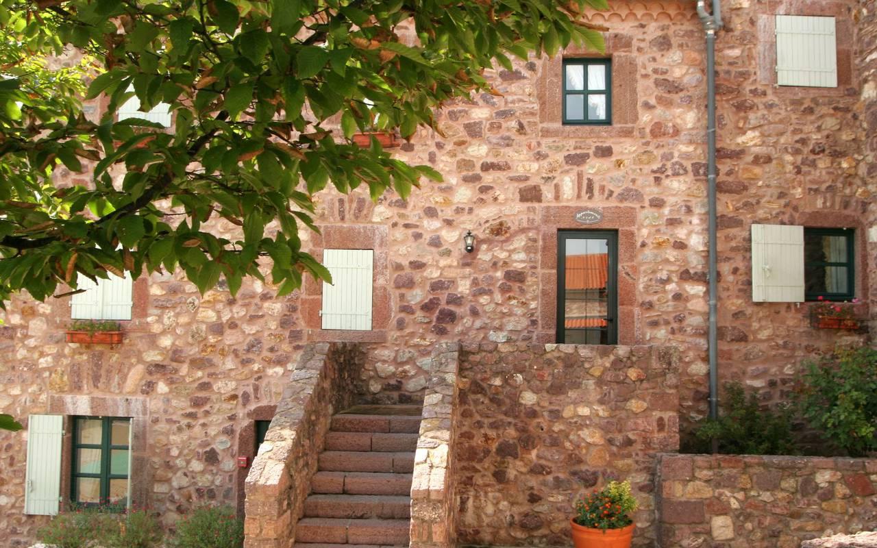 Hotel roussillon stone facade