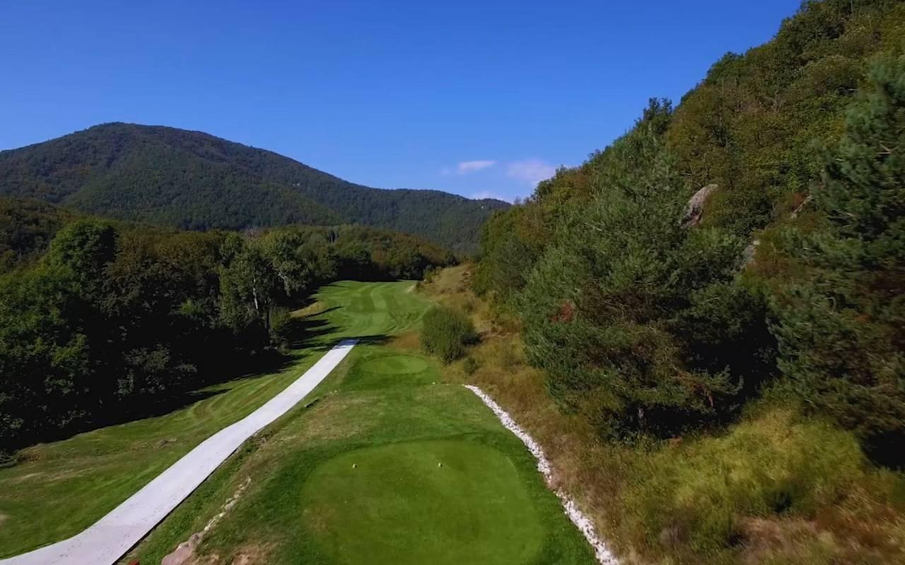 Hole 12 golf amelie les bains