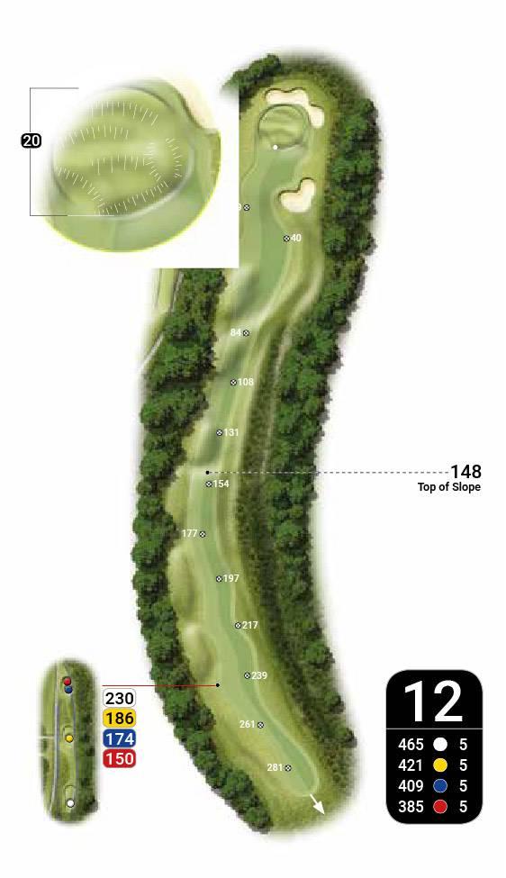 plan 12 golf amelie les bains