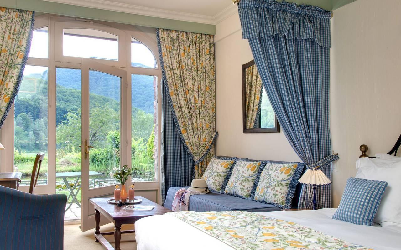 Chambre avec vue hôtel de charme languedoc roussillon